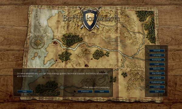 Battle for Wesnoth offre un'interfaccia e un editor delle mappe completamente rinnovati.